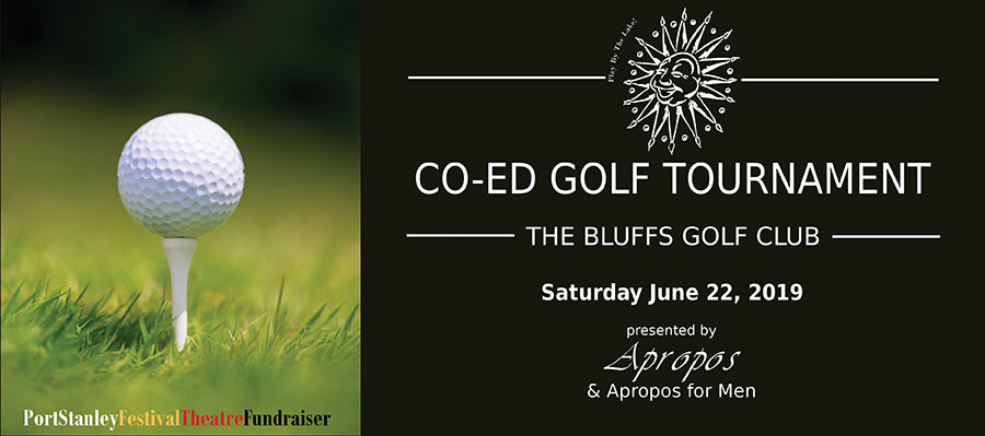 New this year – Co-Ed Golf Tournament at The Bluffs Golf Course